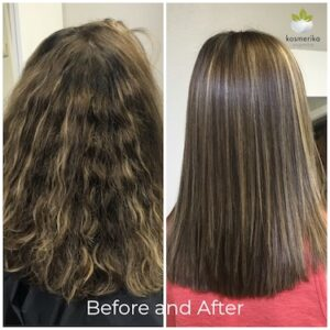 kerating smoothing treatment before and after picture